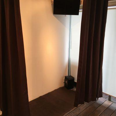 401号室は簡易更衣室が作れます。
