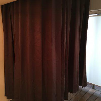 簡易更衣室なので取り外し可能です。